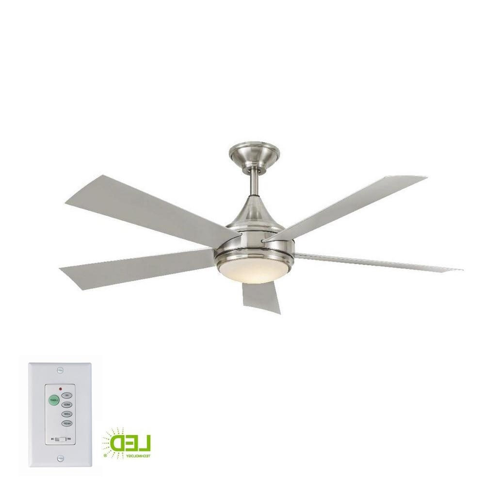 Most Current Stainless Steel Outdoor Ceiling Fans With Regard To Home Decorators Collection Hanlon 52 In. Integrated Led Indoor (Gallery 1 of 20)
