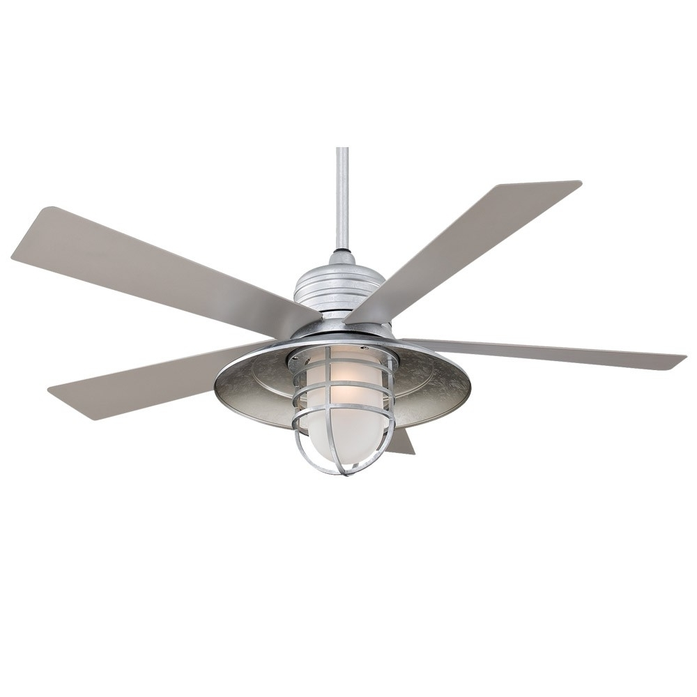 "Most Popular 54"" Rainman Ceiling Fanminka Aire – Outdoor Wet Rated – F582 Gl Inside Outdoor Ceiling Fans With Speakers (View 12 of 20)"