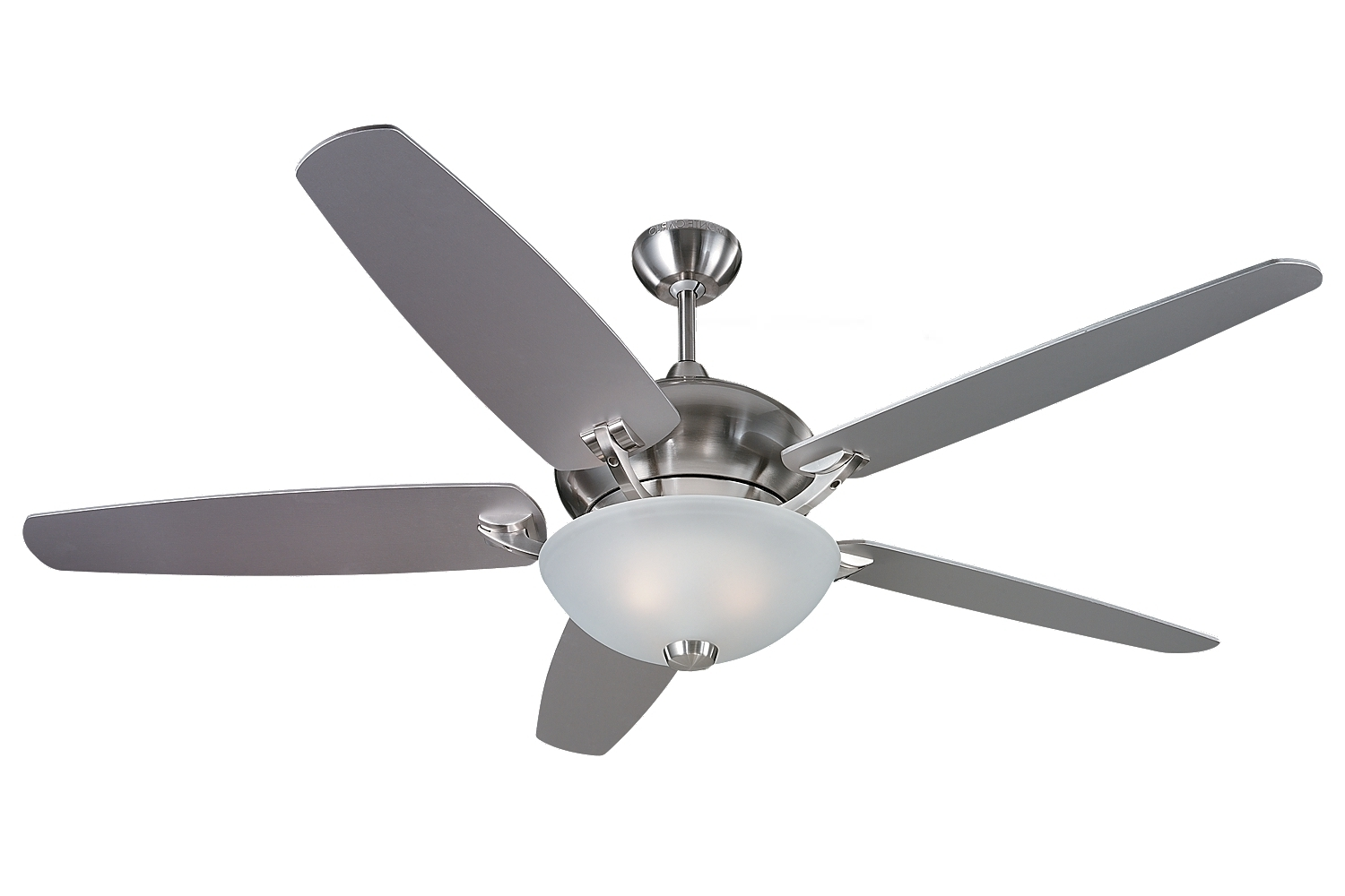 "Most Popular 5vsr60bsd L,60"" Versio Fan – Brushed Steel – Dc Motor,brushed Steel Inside Outdoor Ceiling Fans With Dc Motors (View 16 of 20)"