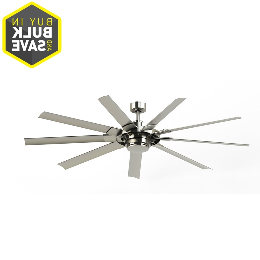 Most Popular Brushed Nickel Outdoor Ceiling Fans With Light In Shop Ceiling Fans At Lowes (View 12 of 20)