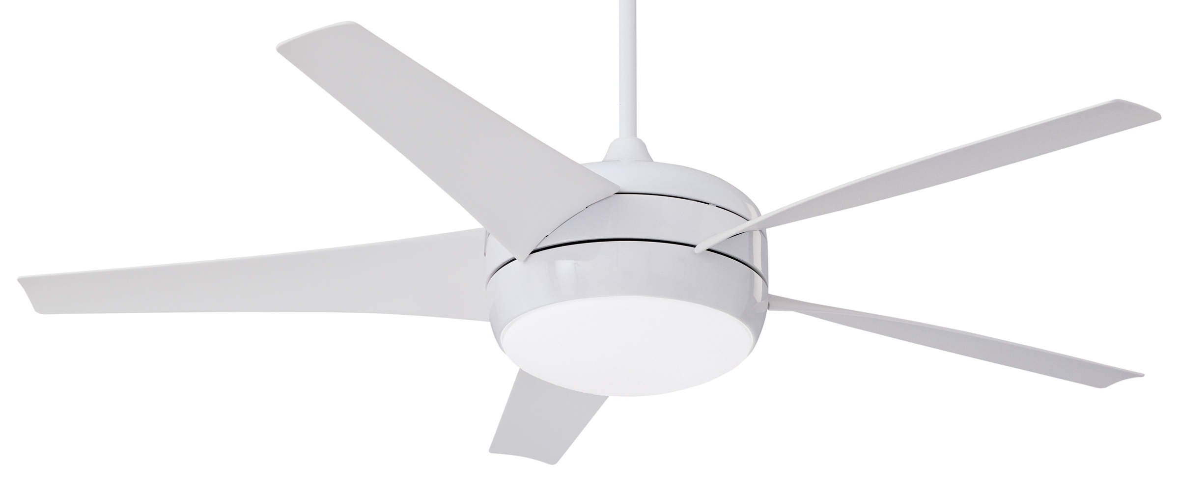 Most Popular Modern Outdoor Ceiling Fans With Lights Throughout Emerson Midway Eco Dc Motor Ceiling Fan Cfww In Gloss White With (Gallery 18 of 20)