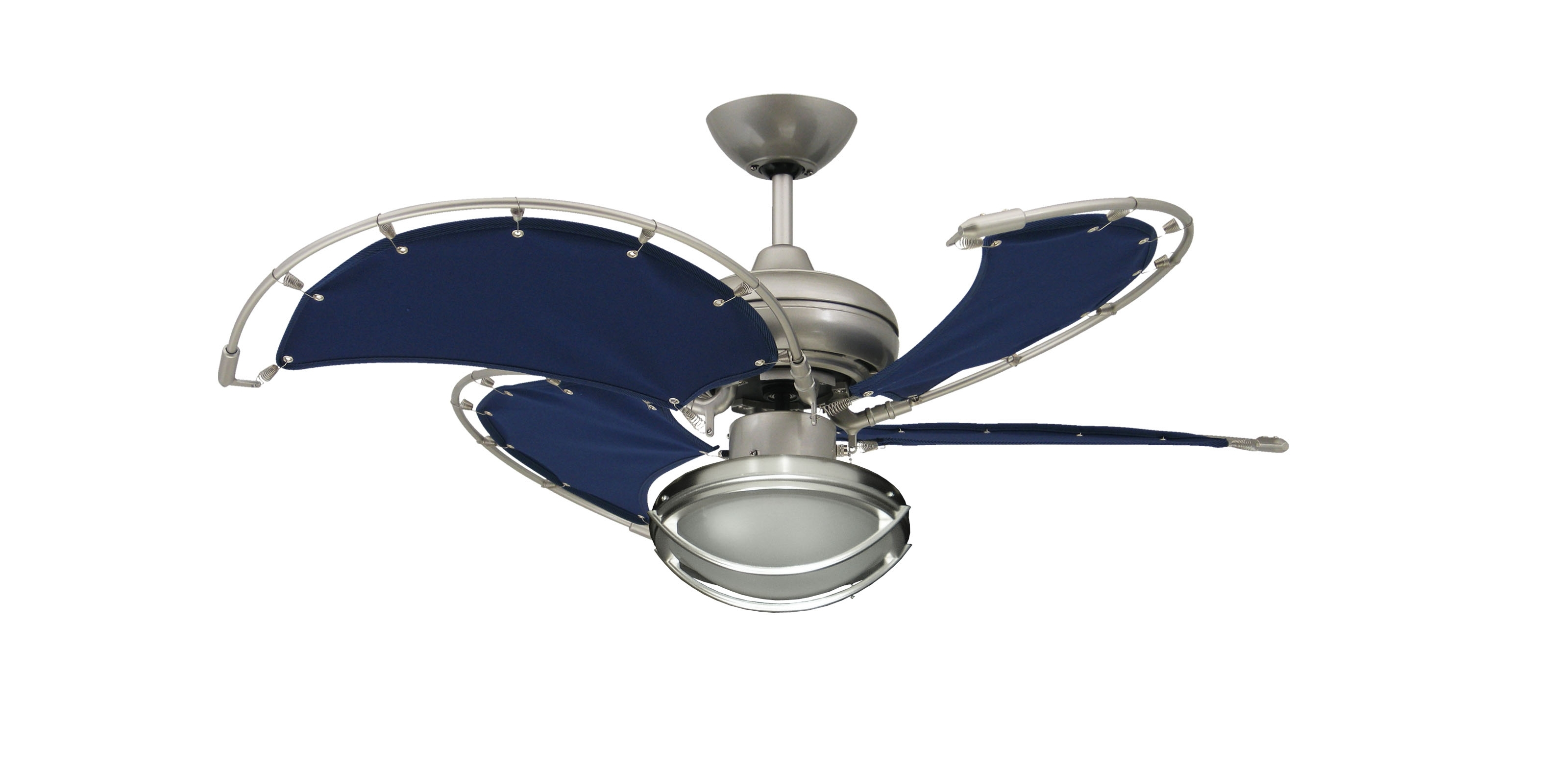 Most Popular Nickel Outdoor Ceiling Fans Regarding Awesome Outdoor Brushed Nickel Ceiling Fan Is Rated For Damp (View 19 of 20)
