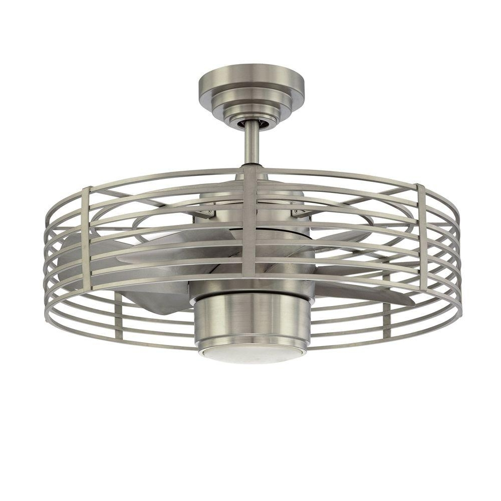 Most Popular Outdoor Ceiling Fans With Guard Throughout Designers Choice Collection Enclave 23 In. Natural Iron Ceiling Fan (Gallery 5 of 20)