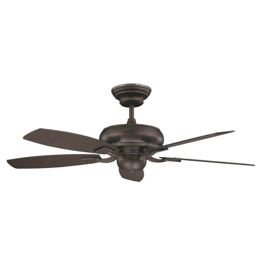 Most Popular Outdoor Electric Ceiling Fans Inside Concord Fans Roosevelt Series 52 In. Indoor Oil Rubbed Bronze (Gallery 19 of 20)