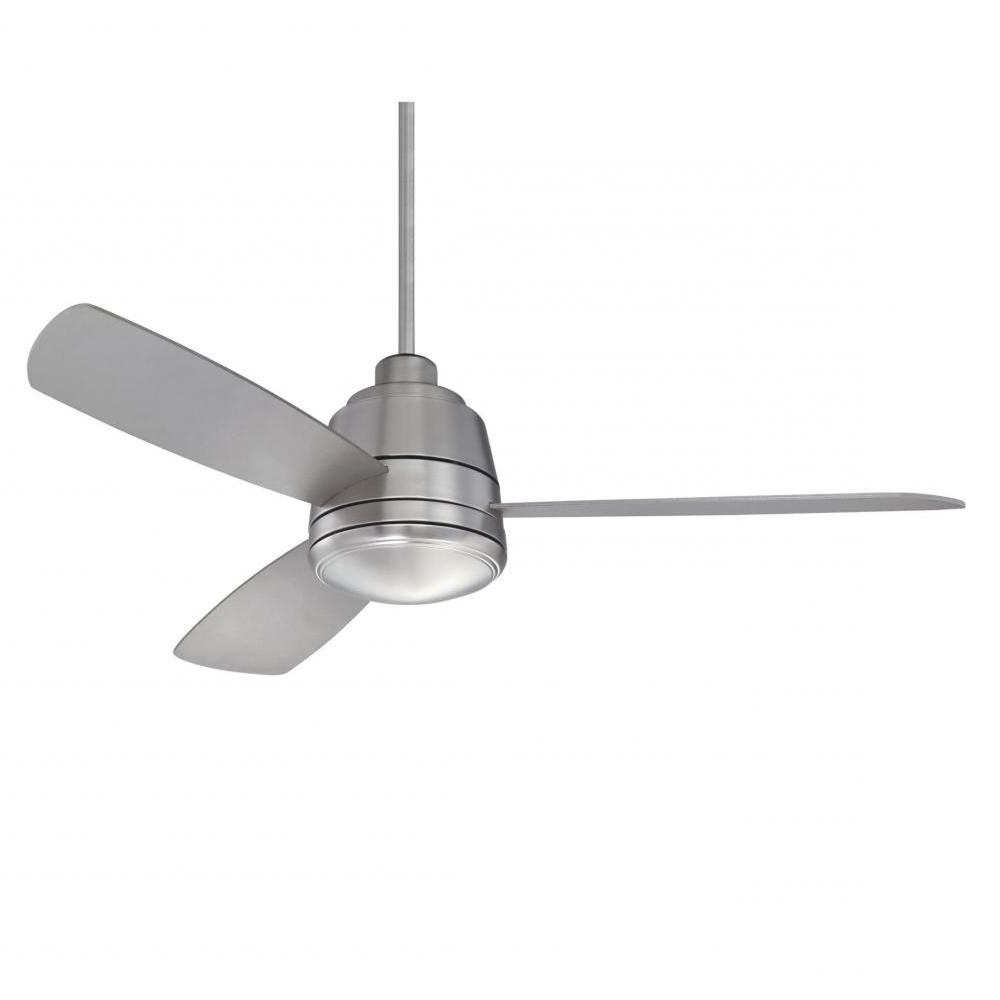 Most Recent Brushed Nickel Outdoor Ceiling Fans With Light Pertaining To Illumine Thuban 52 In (View 3 of 20)