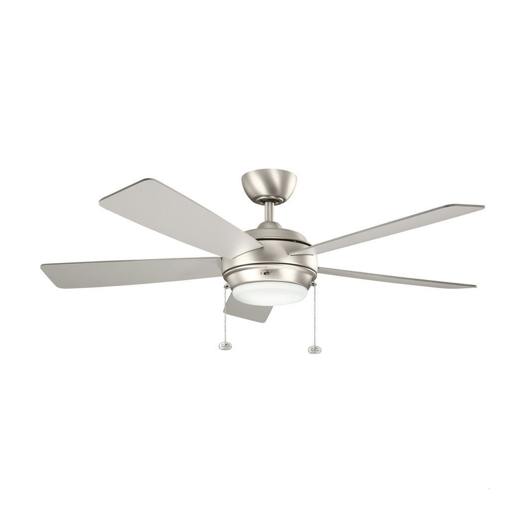 Most Recent Brushed Nickel Outdoor Ceiling Fans With Light Within 60 Inch Outdoor Ceiling Fan With Light Amazing Kichler Lighting (View 14 of 20)