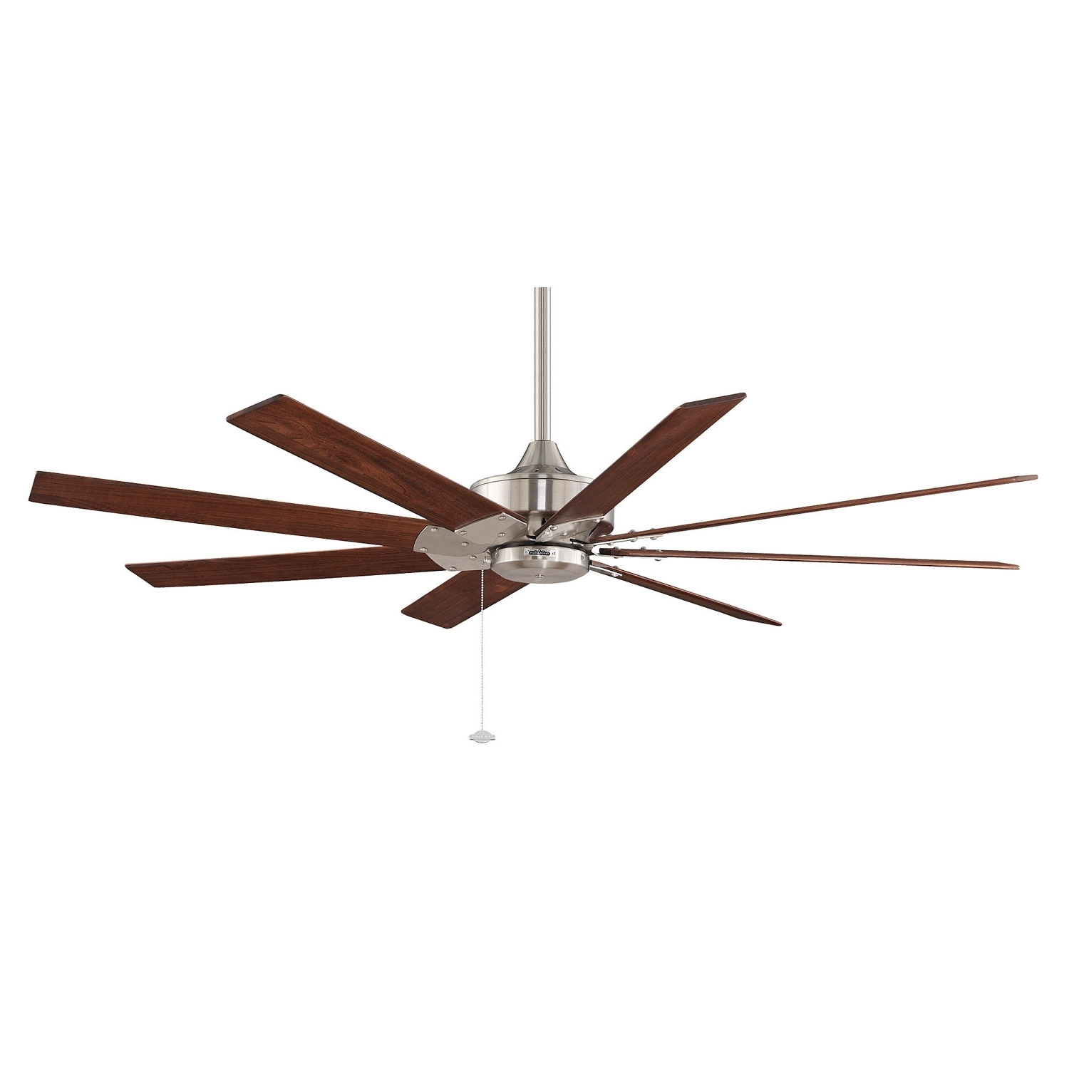 Most Recent Commercial Outdoor Ceiling Fans Regarding Fanimation Levon Brushed Nickel 63 Inch Energy Star Ceiling Fan With (View 11 of 20)