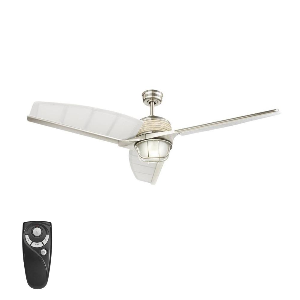 Most Recent Home Decorators Collection Escape Ii 60 In. Led Indoor/outdoor With Outdoor Ceiling Fans With Guard (Gallery 8 of 20)