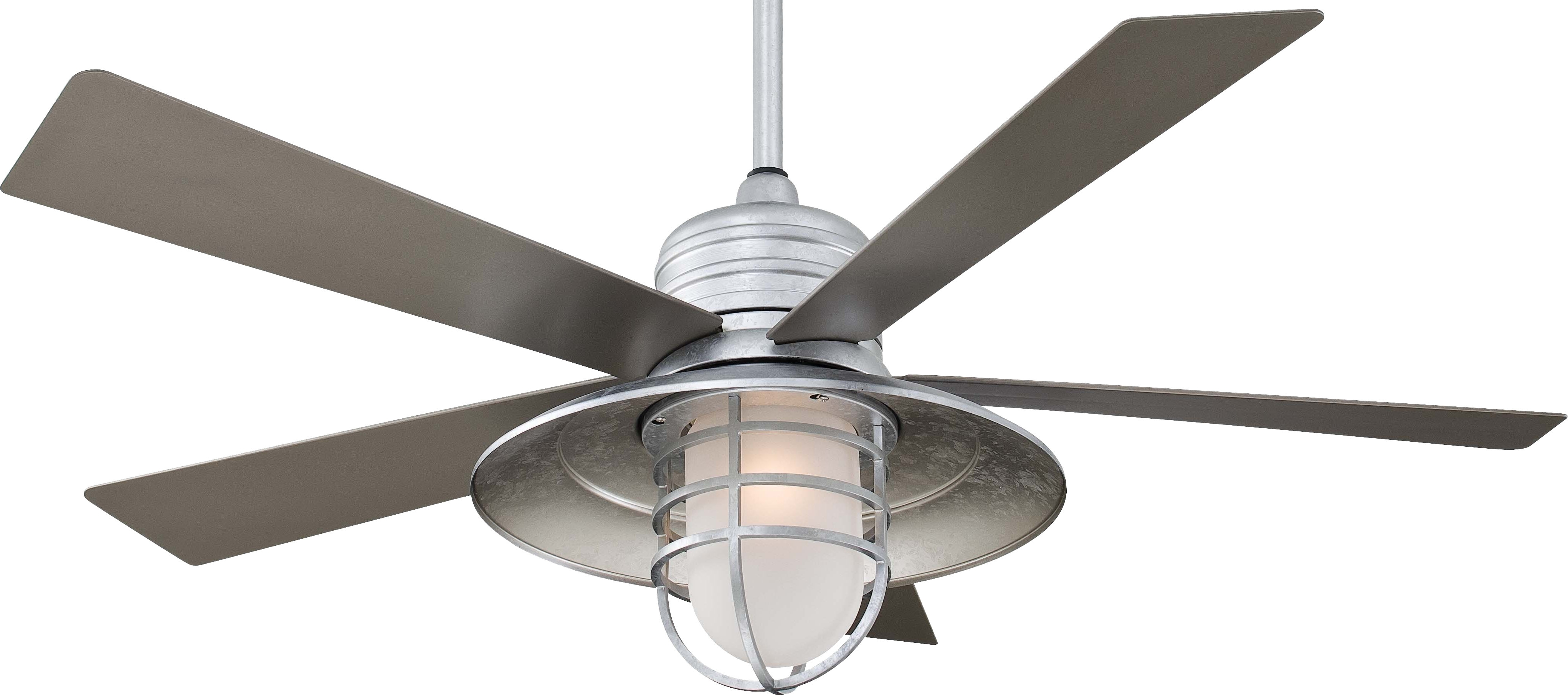 Most Recent Mid Century Galvanized Ceiling Fan Light Kit Modern Tray Definition Inside Outdoor Ceiling Fans With Galvanized Blades (View 6 of 20)