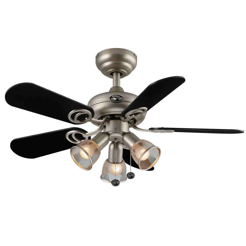 Most Recently Released 36 Inch Outdoor Ceiling Fans In Hampton Bay San Marino 36 In. Led Indoor Brushed Steel Ceiling Fan (Gallery 9 of 20)