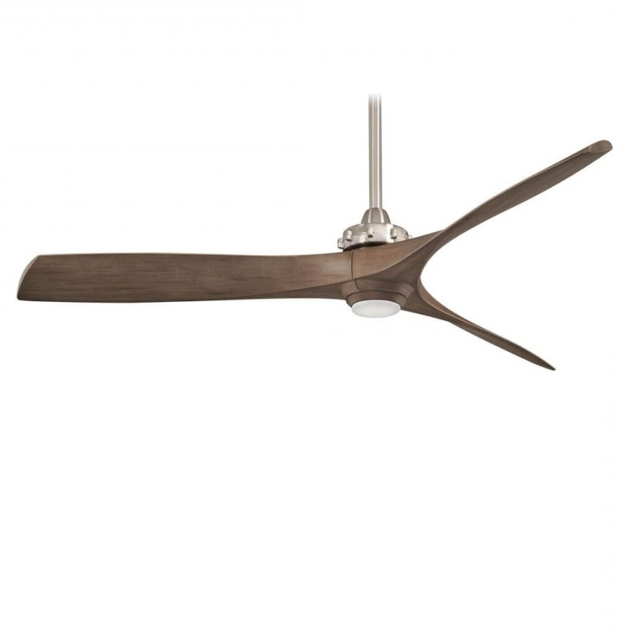 Most Recently Released Minka Aire Outdoor Ceiling Fans With Lights Pertaining To Minka Aire F683L Bnw 1 Led Light 56 Inch Outdoor Ceiling Fan In (Gallery 15 of 20)