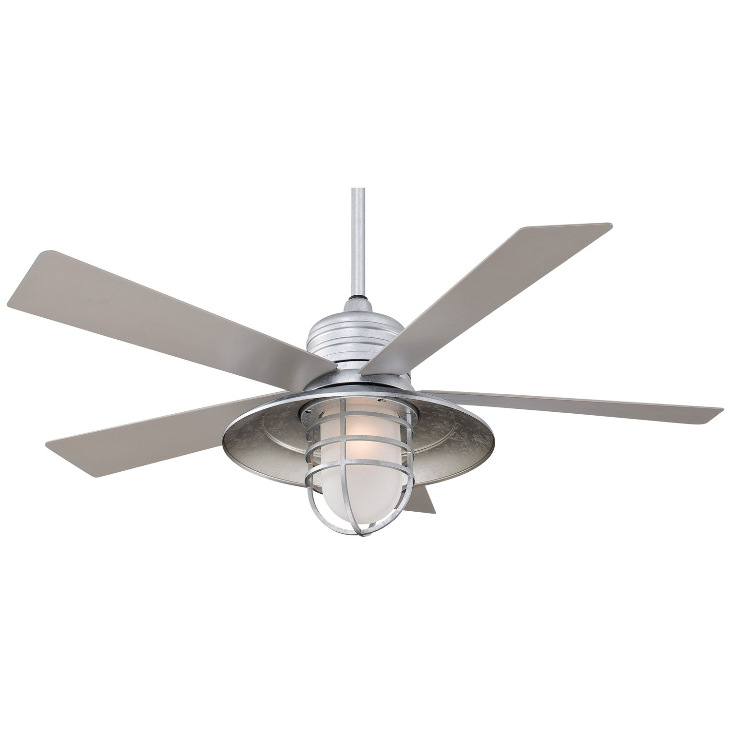 Most Recently Released Outdoor Ceiling Fans With Galvanized Blades Regarding Minka Aire Rainman Galvanized 54 Inch Blade Indoor/outdoor Ceiling (View 2 of 20)