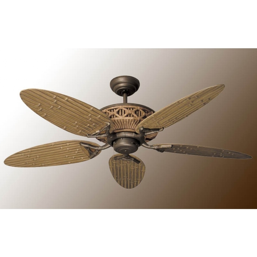 Most Recently Released Tiki Ceiling Fan, Outdoor Fan Within Outdoor Ceiling Fans With Bamboo Blades (View 8 of 20)