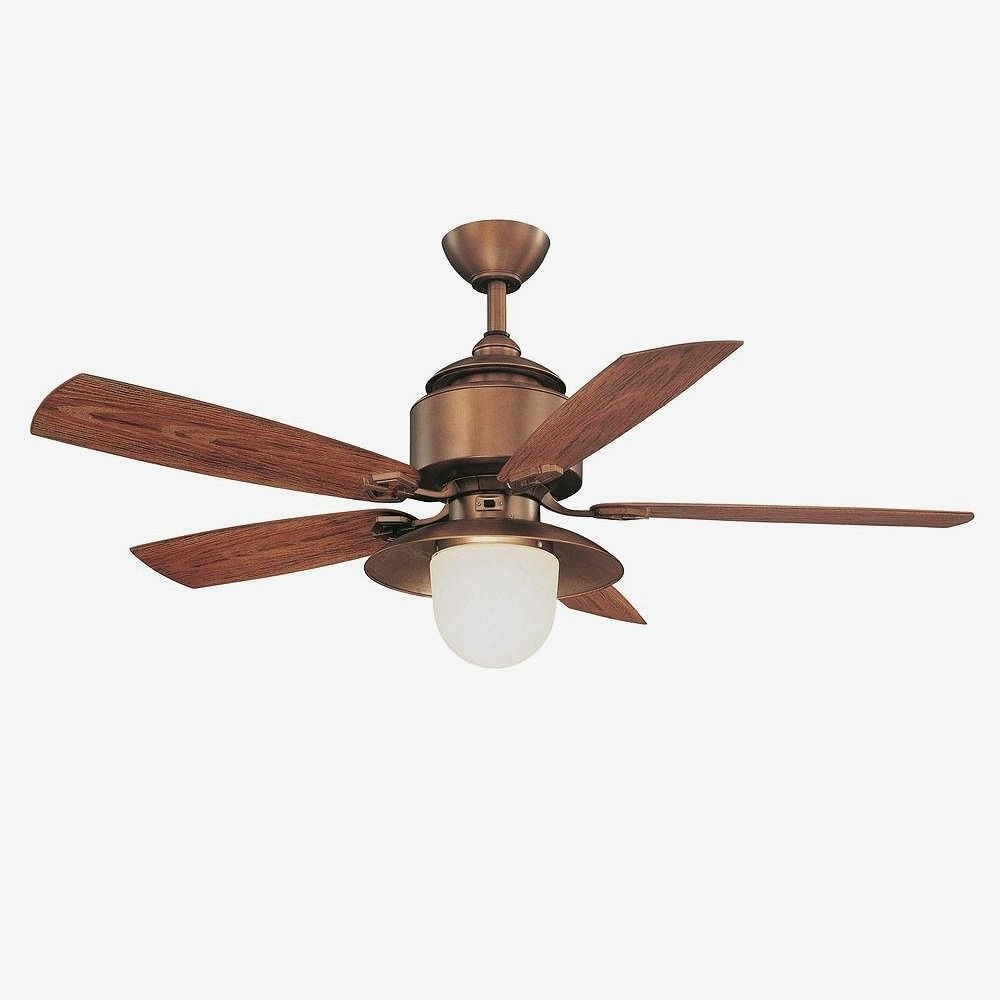 "Most Up To Date Copper Outdoor Ceiling Fans With Hampton Bay 52"" Copperhead Outdoor Weathered Copper Finish Ceiling (View 20 of 20)"