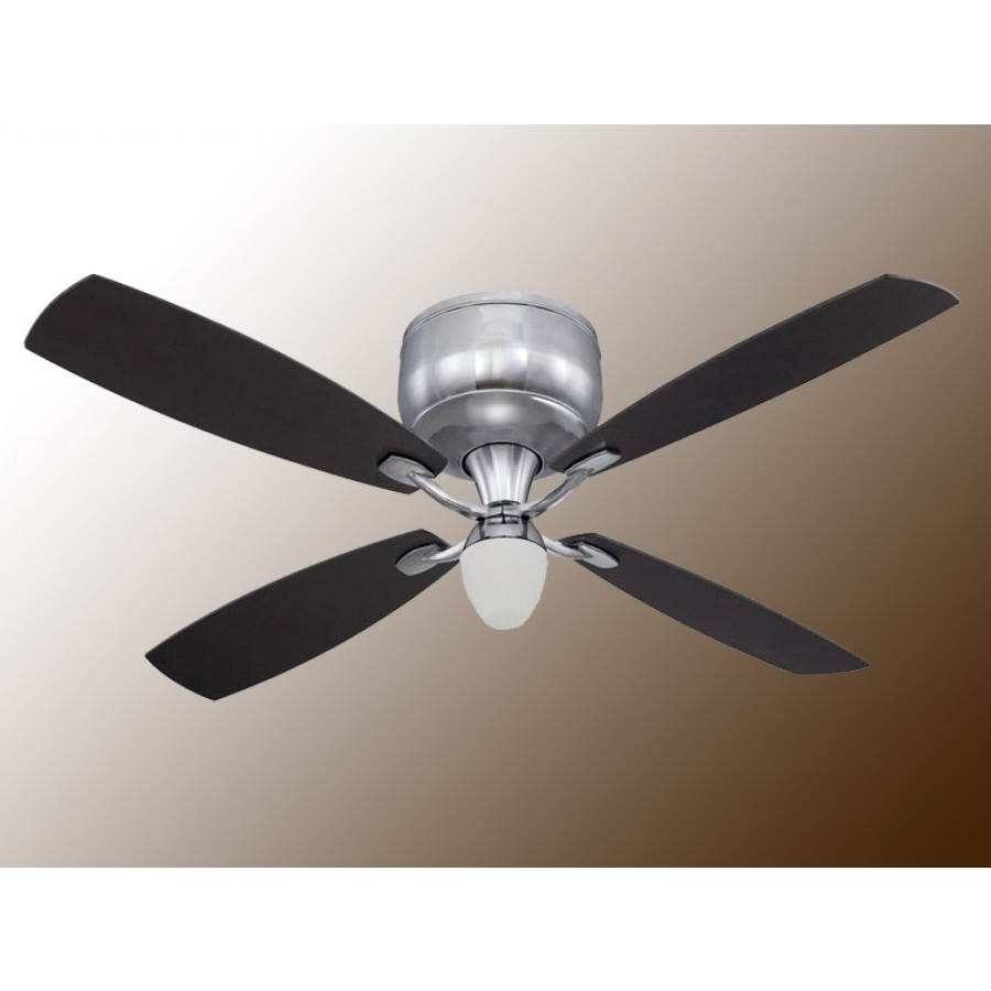 "Most Up To Date Craftmade De52Ch4 Delos 52"" Flush Mount Ceiling Fan W/ Light And Remote In Galvanized Outdoor Ceiling Fans (View 10 of 20)"