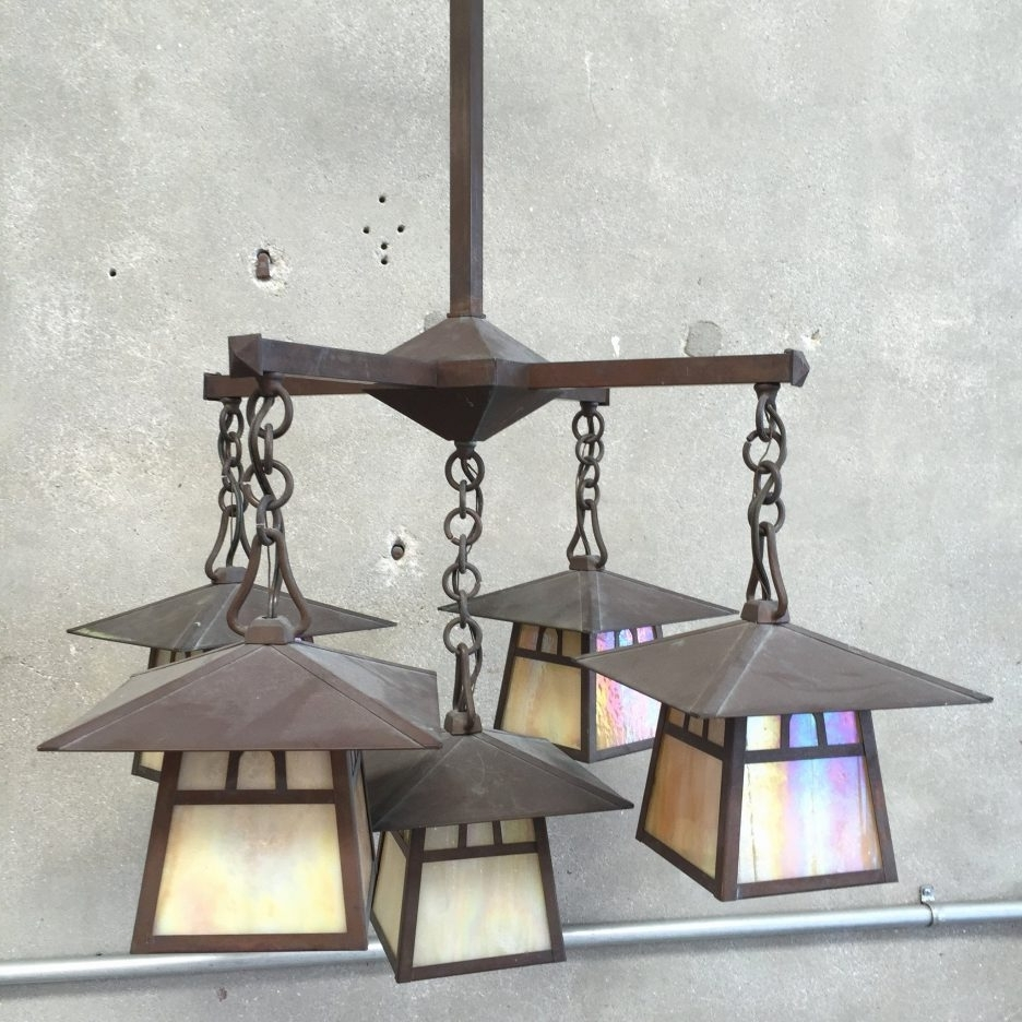 Most Up To Date Craftsman Flood Light Spanish Mission Lighting Flush Mount Craftsman Inside Craftsman Outdoor Ceiling Fans (View 17 of 20)