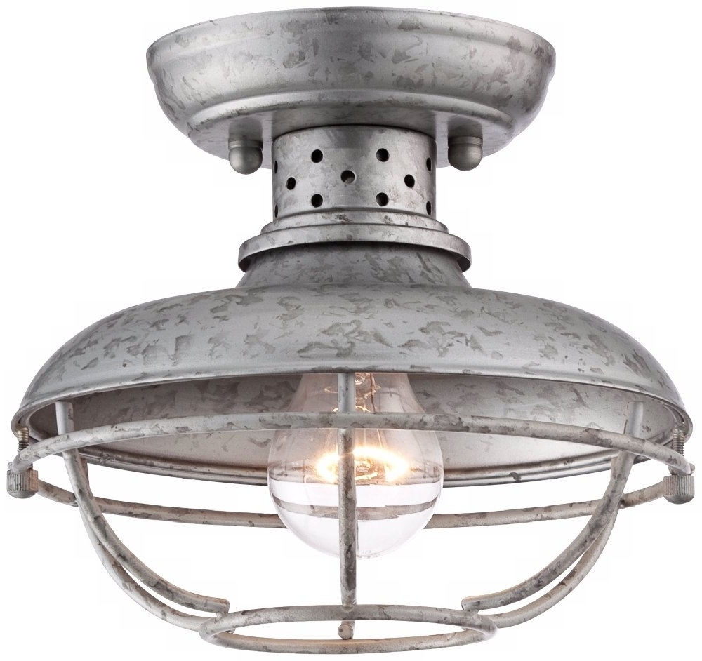 Most Up To Date Galvanized Outdoor Ceiling Fans Within Galvanized Ceiling Light Cute Home Depot Ceiling Fans With Lights (View 13 of 20)