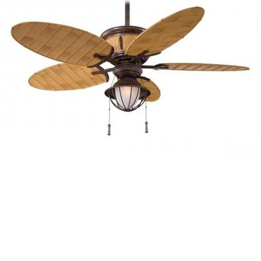 Most Up To Date Minka Aire F580 Vr/bb Shangri La 1 Light 52 Inch Outdoor Ceiling Fan For Outdoor Ceiling Fans With Bamboo Blades (View 19 of 20)