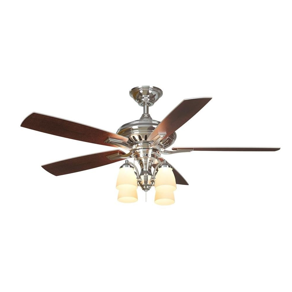 Most Up To Date Outdoor Ceiling Fan With Brake With Regard To Hampton Bay Rocio 60 In. Natural Iron Indoor/outdoor Ceiling Fan (Gallery 17 of 20)