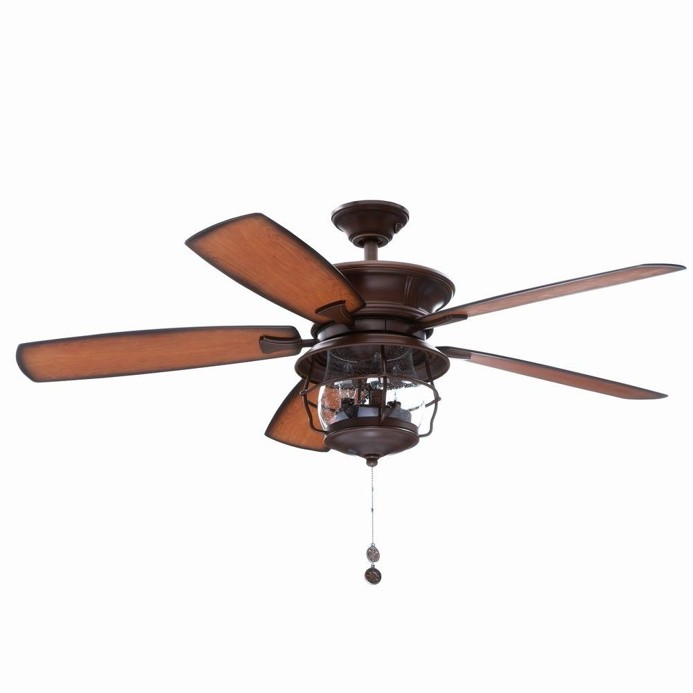 Most Up To Date Outdoor Ceiling Fans And Lights Within Westinghouse Brentford 52 In. Indoor/outdoor Aged Walnut Finish (Gallery 17 of 20)