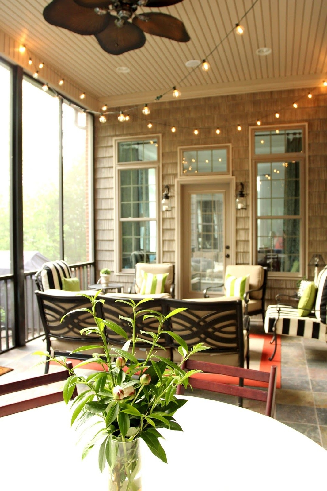 Most Up To Date Outdoor Ceiling Fans For Screened Porches For Screened In Porch Twinkle Lights (Gallery 7 of 20)