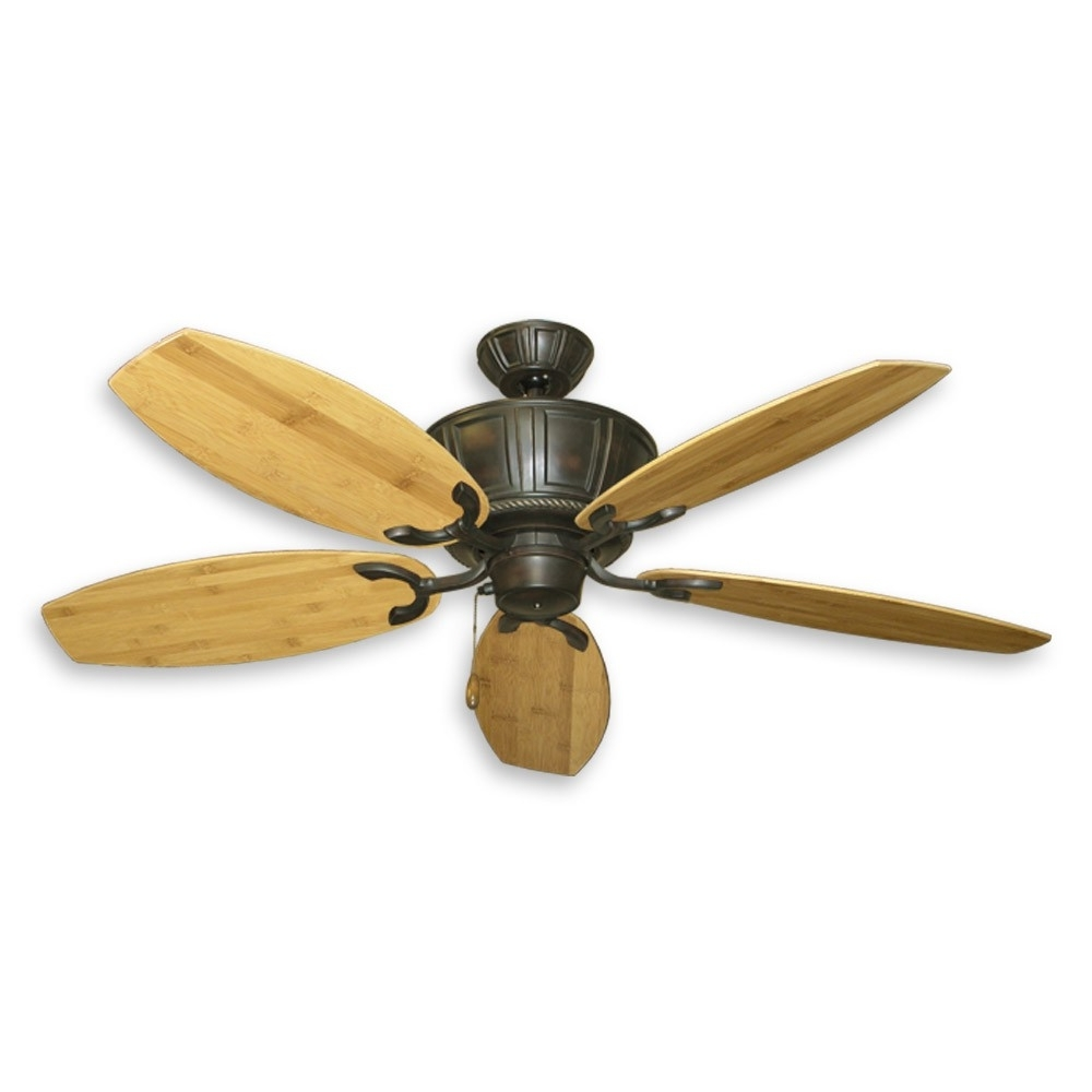 Most Up To Date Outdoor Ceiling Fans With Bamboo Blades With Tropical Ceiling Fans With Palm Leaf Blades, Bamboo, Rattan And More (Gallery 2 of 20)