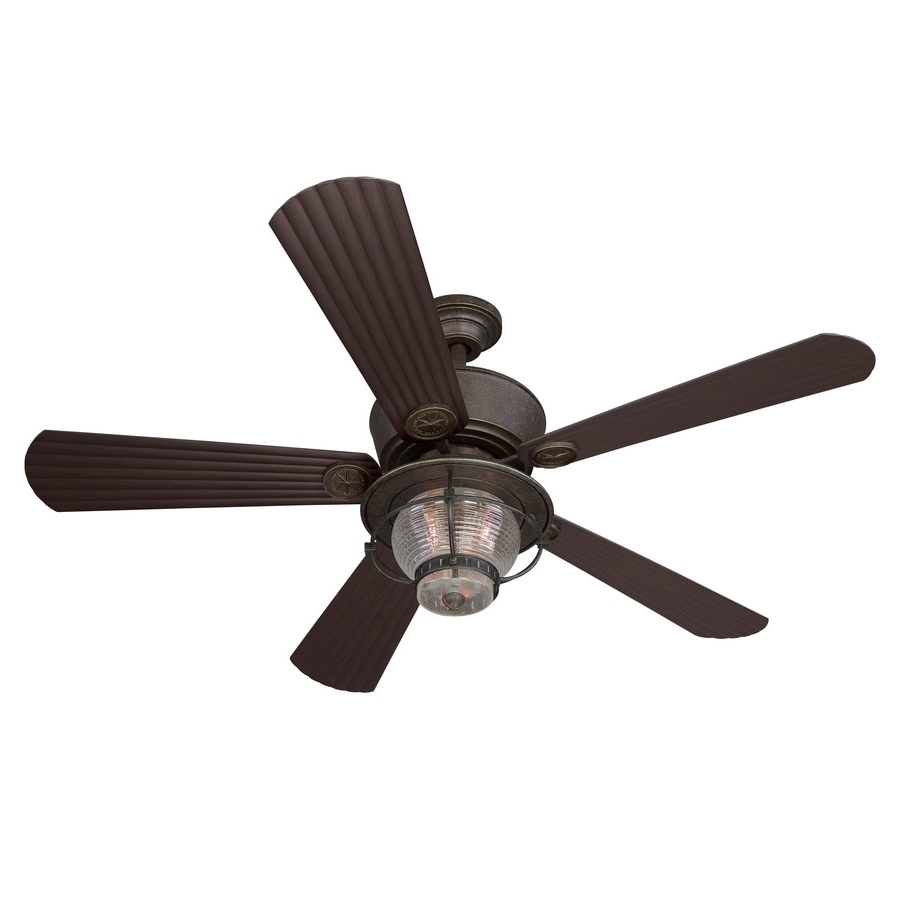 Most Up To Date Outdoor Ceiling Fans With Light Globes Pertaining To Classic Patio Ideas With Globe Style Light Kit, And Antique Bronze (View 9 of 20)