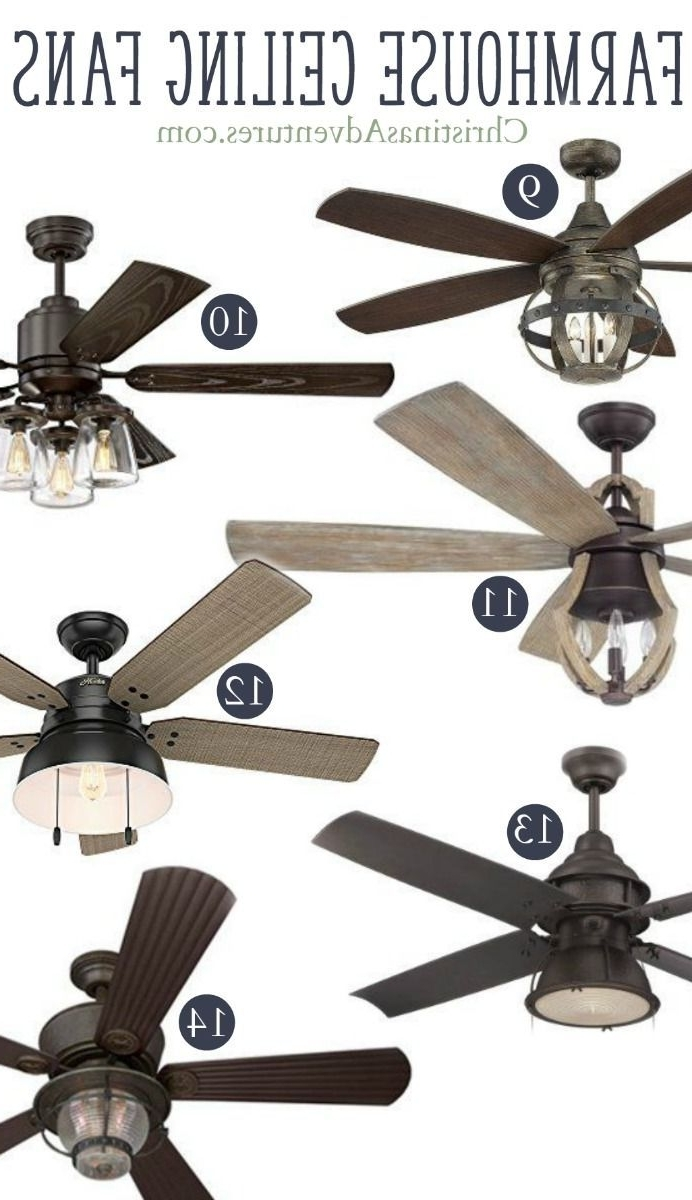 Most Up To Date Where To Buy Farmhouse Ceiling Fans Online (View 16 of 20)