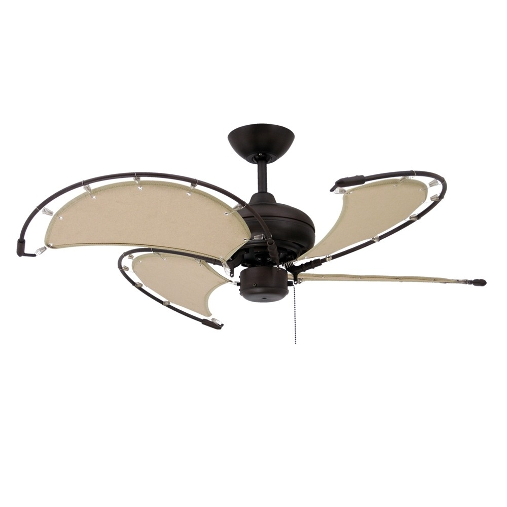 Nautical Outdoor Ceiling Fans In Most Current Nautical Ceiling Fans / Maritime Fans With Sail Blades For Coastal (View 8 of 20)