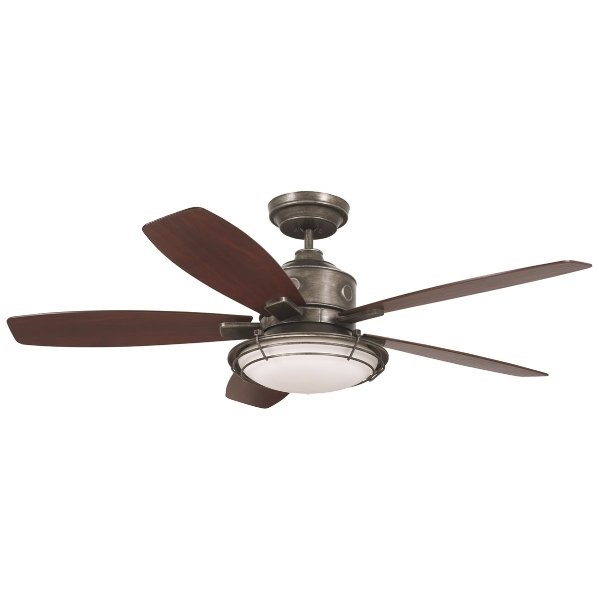 Newest Emerson Outdoor Ceiling Fans With Lights Within Emerson Rockpointe Outdoor Ceiling Fan – Vintage Steel One Each (View 14 of 20)
