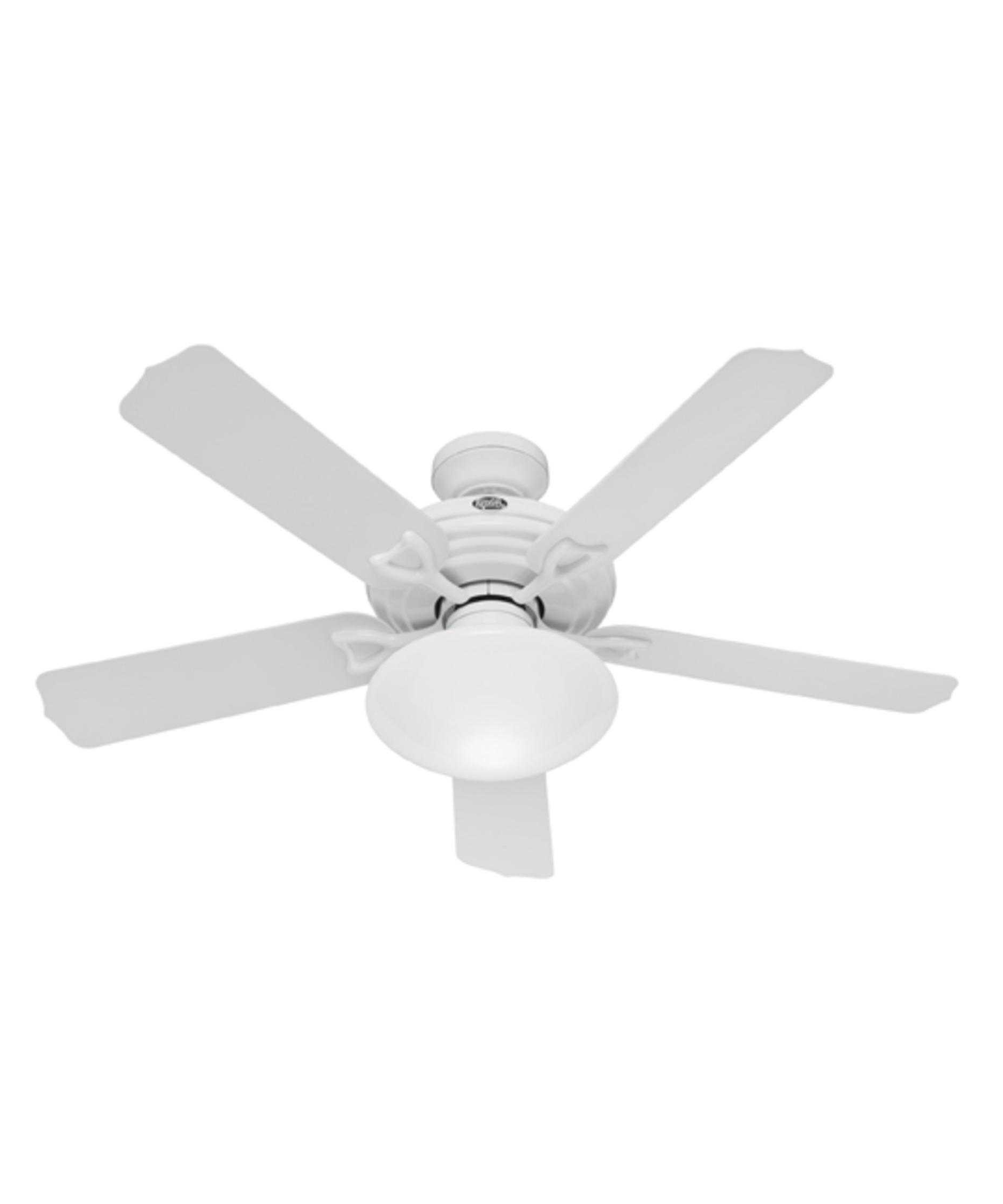 Newest Hunter Fan Beaufort Trends With Stunning White Outdoor Ceiling Fans For Hunter Outdoor Ceiling Fans With White Lights (View 11 of 20)
