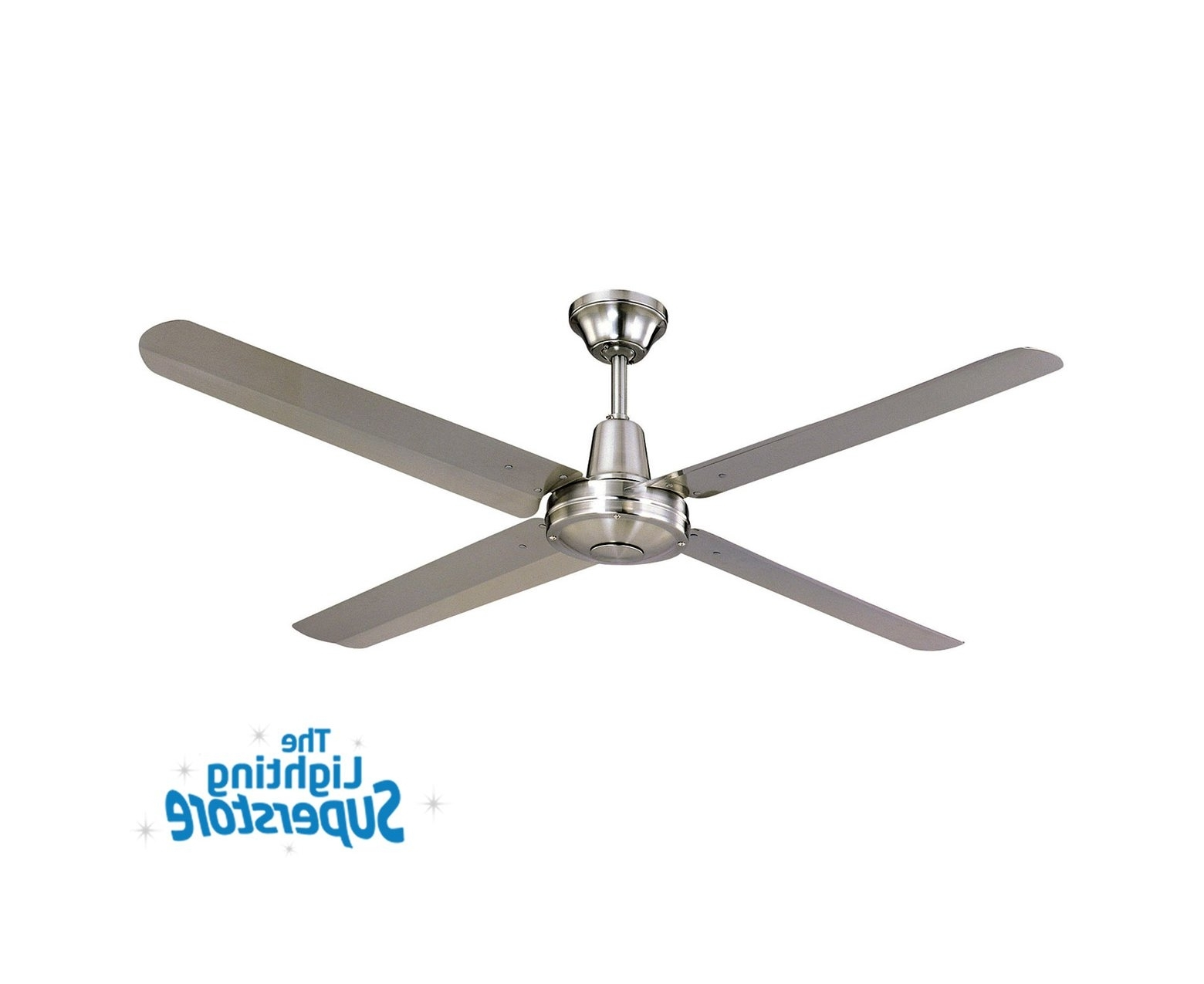 "Newest Hurricane Outdoor Ceiling Fans Inside 52"" Typhoon 316 Stainless Steel – Outdoor Ceiling Fans (Gallery 7 of 20)"