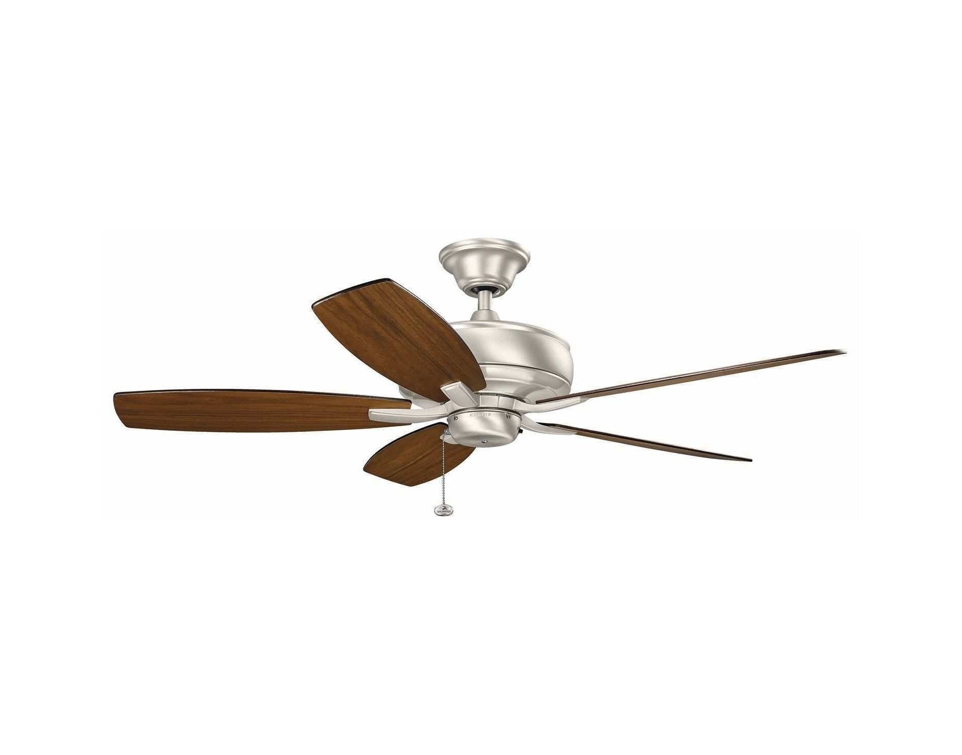 "Newest Outdoor Ceiling Fans With High Cfm With Regard To High Cfm Outdoor Ceiling Fan New 52"" Terra Ceiling Fan In Brushed (View 11 of 20)"
