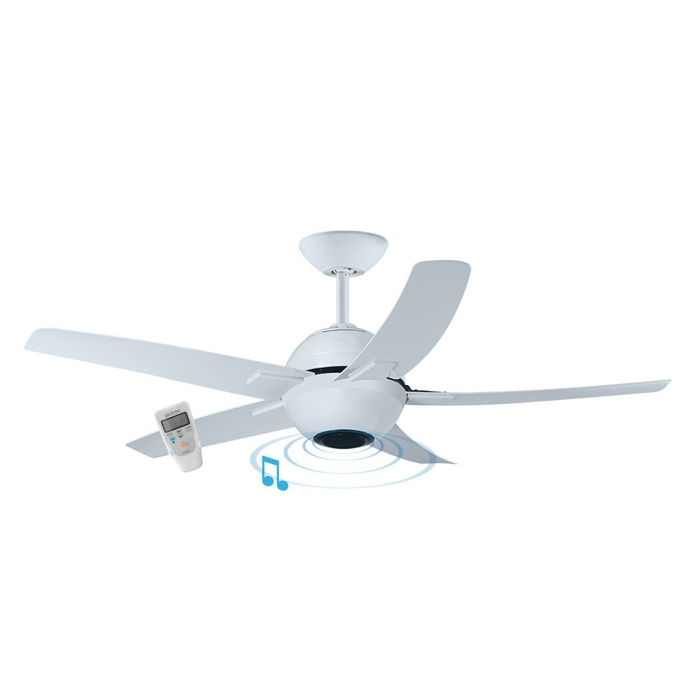Featured Photo of Outdoor Ceiling Fan With Bluetooth Speaker