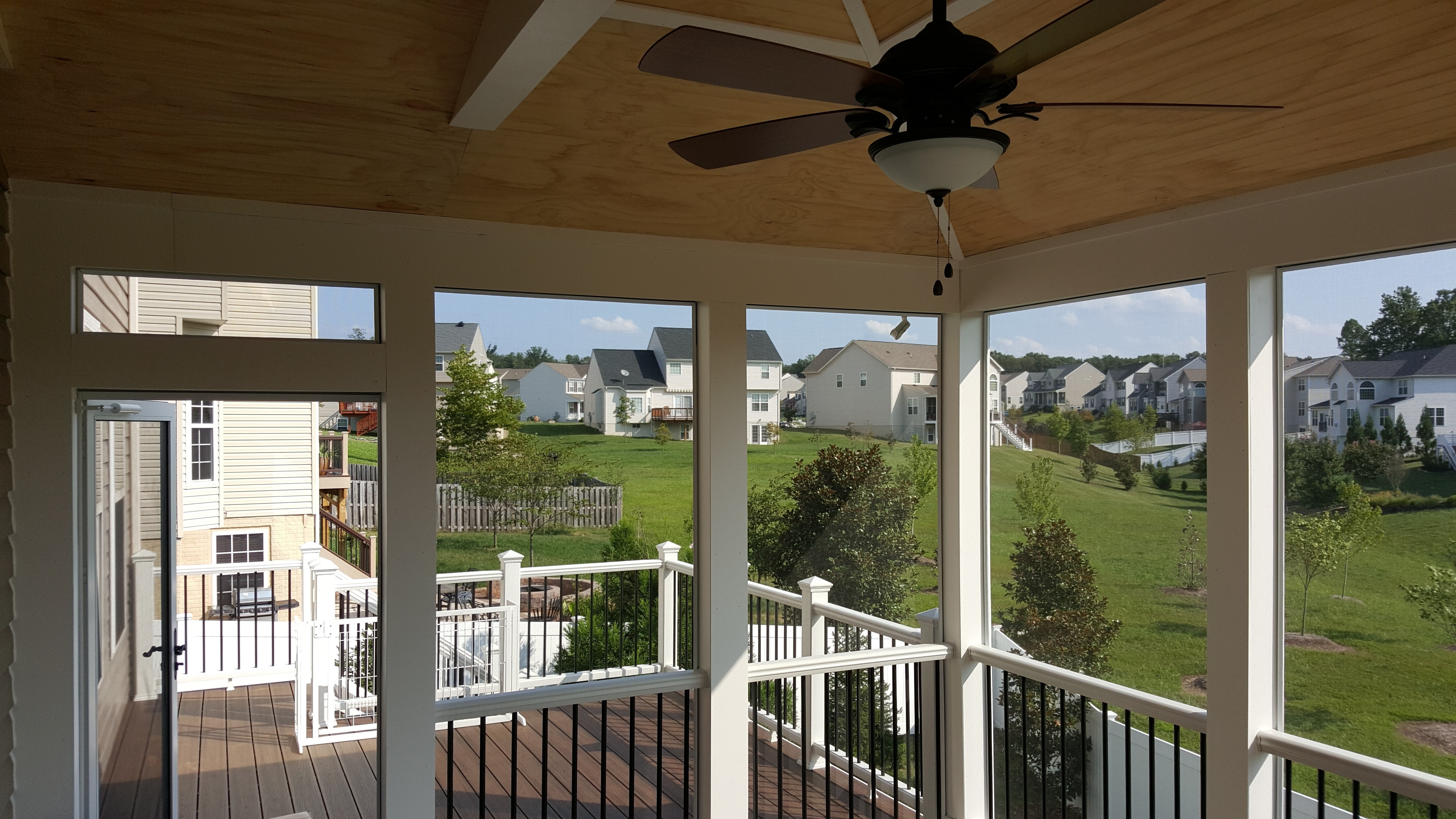 Newest Under Deck Ceiling – Carolina Home Exteriors In Outdoor Ceiling Fan Under Deck (Gallery 10 of 20)