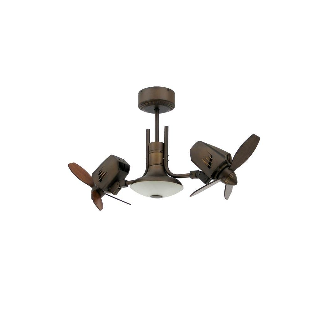 Newest Unique Outdoor Ceiling Fans With Lights Throughout Troposair Mustang Ii 18 In. Dual Motor Oscillating Indoor/outdoor (Gallery 2 of 20)