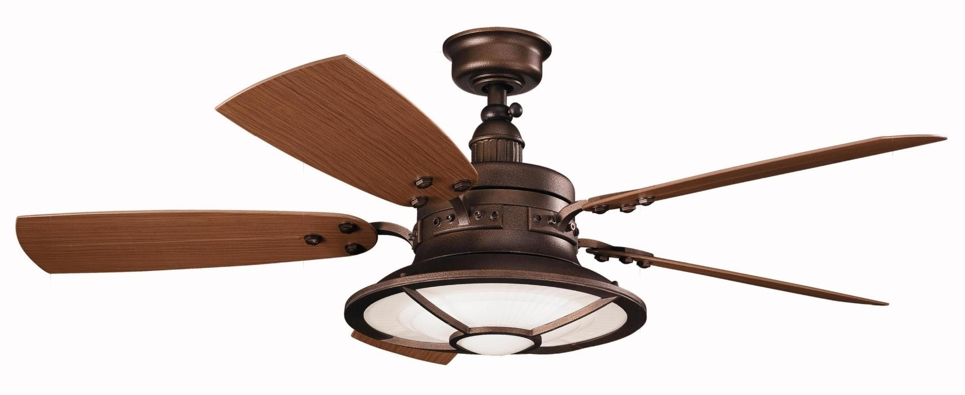 Newest Waterproof Outdoor Ceiling Fans Pertaining To Light : Kichler Fan Led Lighting Ceiling Fans Waterproof Outdoor (View 10 of 20)