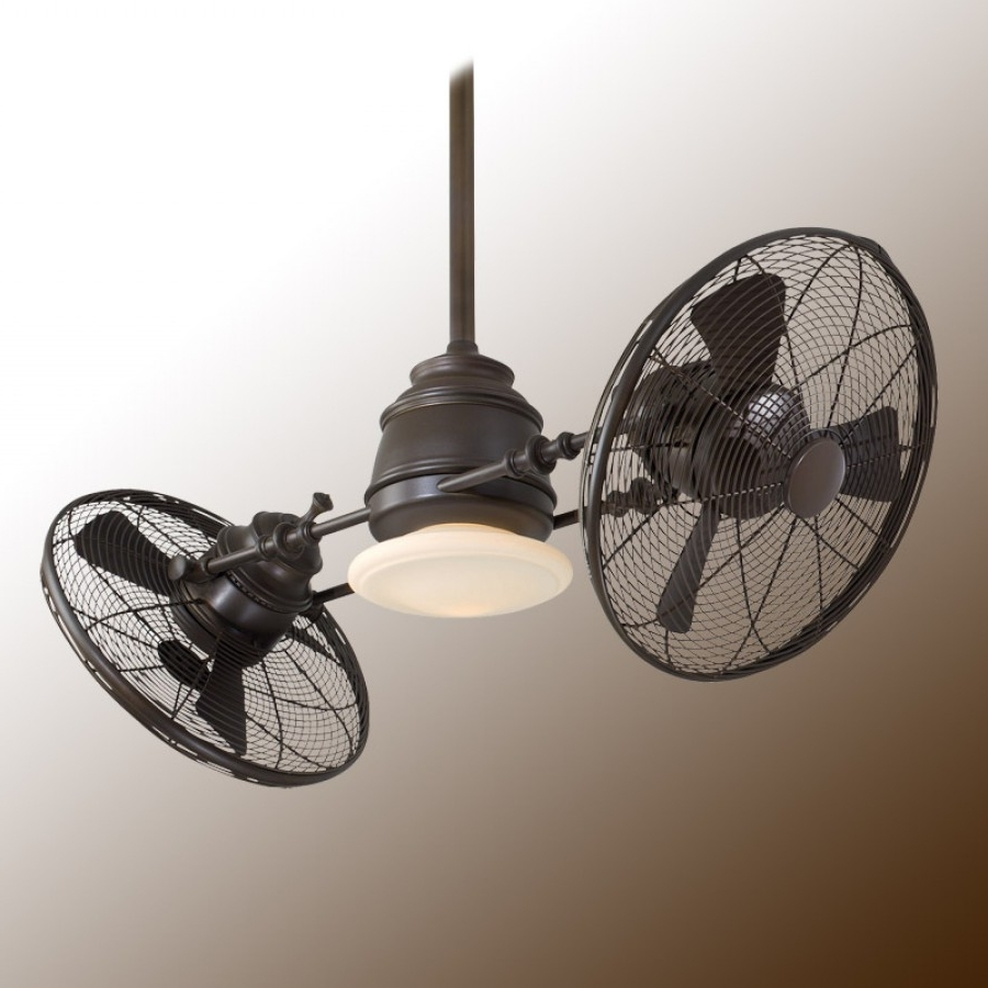 Outdoor Caged Ceiling Fans With Light For Trendy Vintage Gyro Ceiling Fanminka Aire Fan – F802 Orb Oil Rubbed Bronze (View 15 of 20)