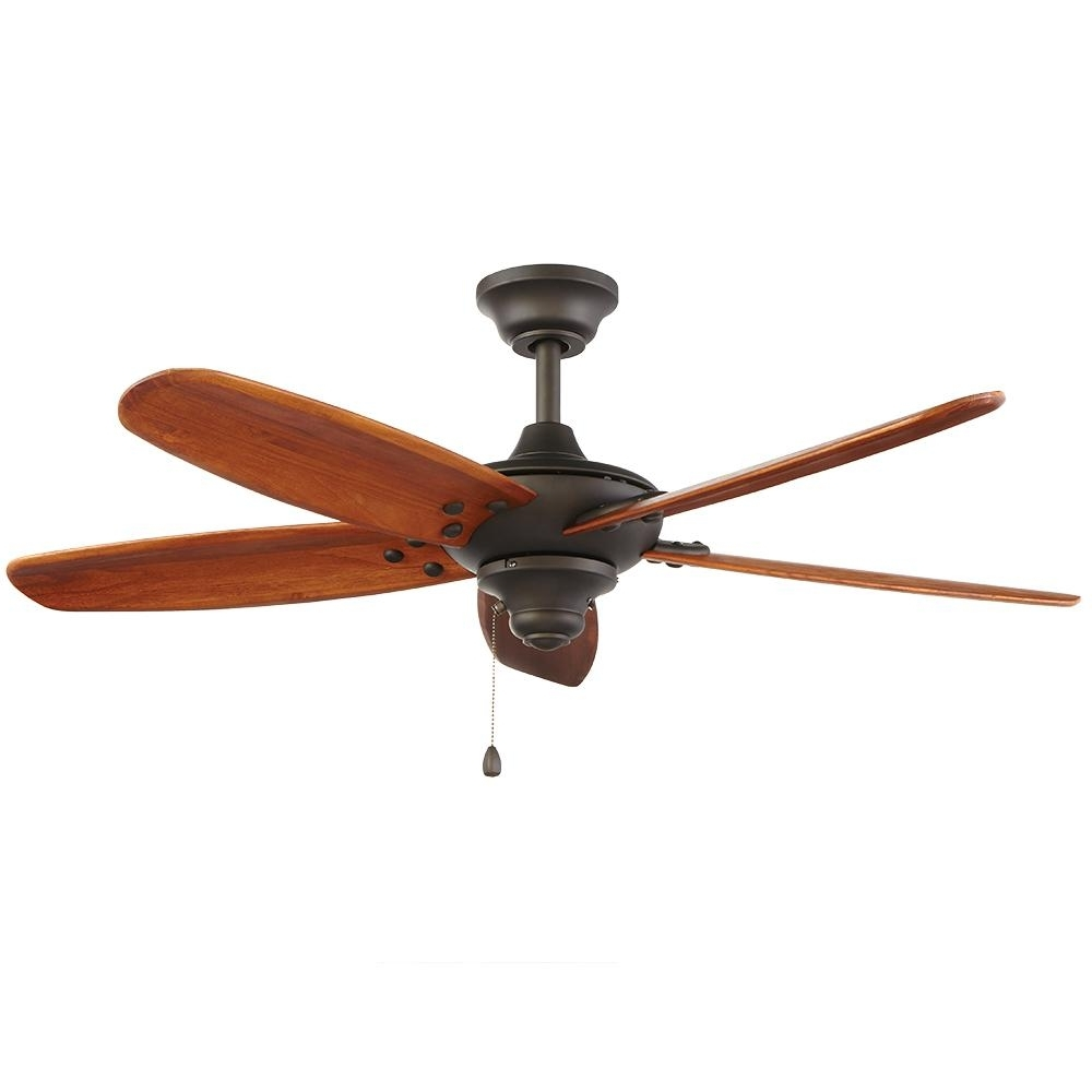 Outdoor Ceiling Fan No Electricity Inside Most Recently Released Home Decorators Collection Altura 48 In. Indoor/outdoor Oil Rubbed (Gallery 6 of 20)
