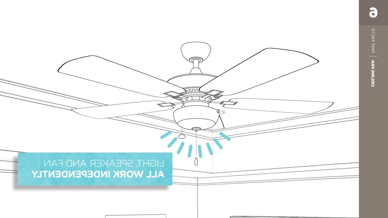 Outdoor Ceiling Fan With Bluetooth Speaker In Current Bluetooth Speaker Kit – Kichler Ceiling Fan Fast Facts – Youtube (View 12 of 20)