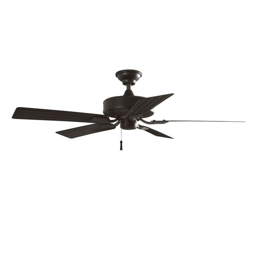 Outdoor Ceiling Fan With Brake Pertaining To Latest Hampton Bay Barrow Island 52 In. Indoor/outdoor Natural Iron Ceiling (Gallery 8 of 20)