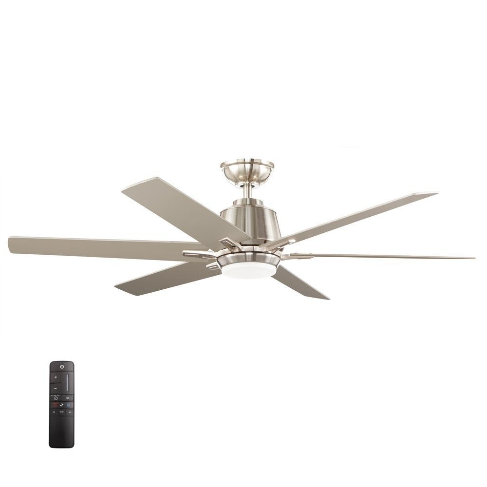 Outdoor Ceiling Fan With Brake Within Most Current Home Decorators Collection Kensgrove 72 In. Led Indoor/outdoor (Gallery 3 of 20)