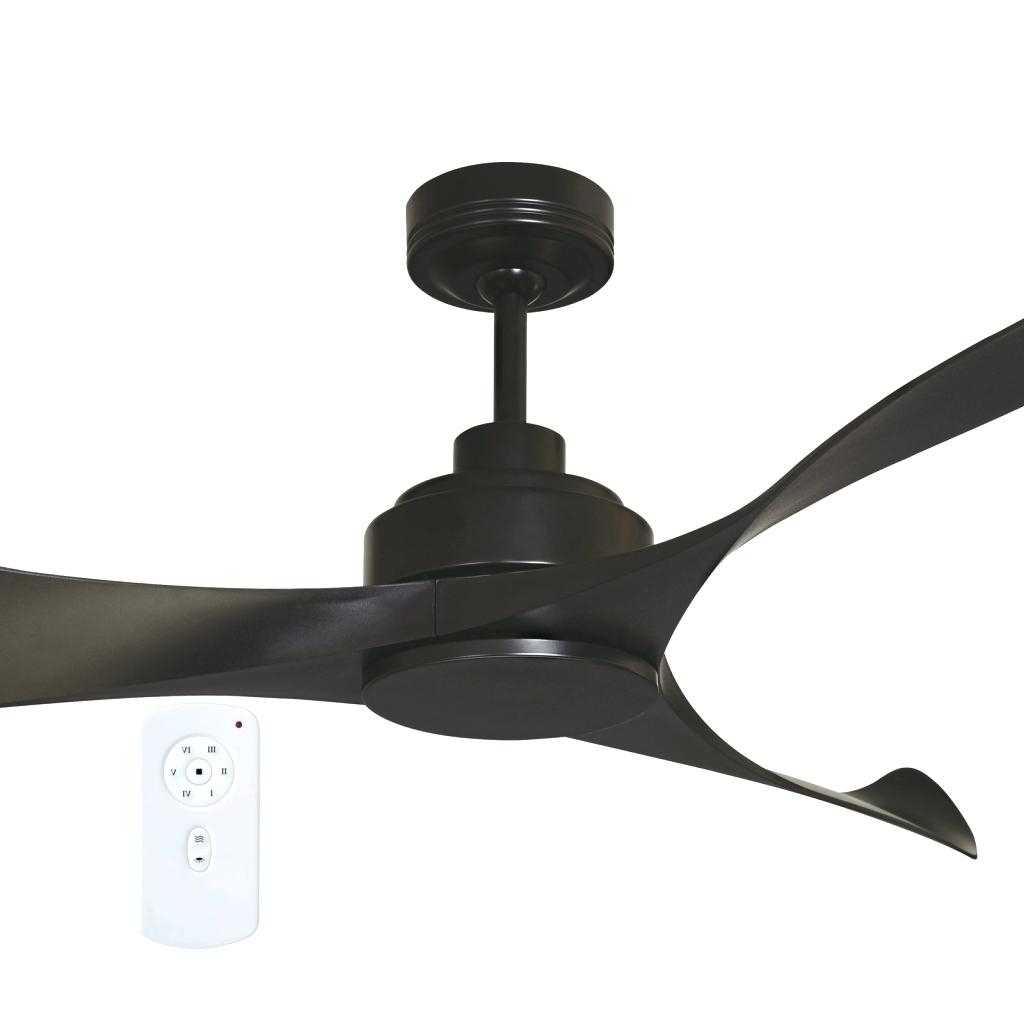Outdoor Ceiling Fans At Bunnings With Most Popular Black Ceiling Fans With Light Remote Fan Kit – Hesstonspeedway (View 14 of 20)