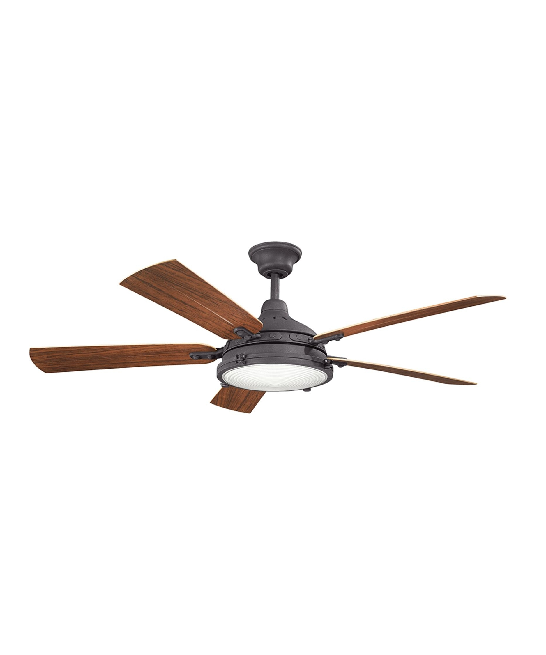 Outdoor Ceiling Fans At Kichler Throughout Trendy Kichler 310117 Hatteras Bay 60 Inch 5 Blade Ceiling Fan (View 14 of 20)