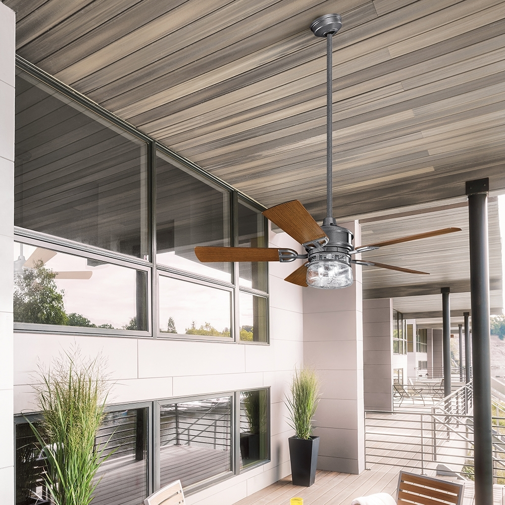 Outdoor Ceiling Fans At Kichler With Well Liked Ceiling Fan: Inspiring Outside Ceiling Fans For Home Kichler Ceiling (View 15 of 20)
