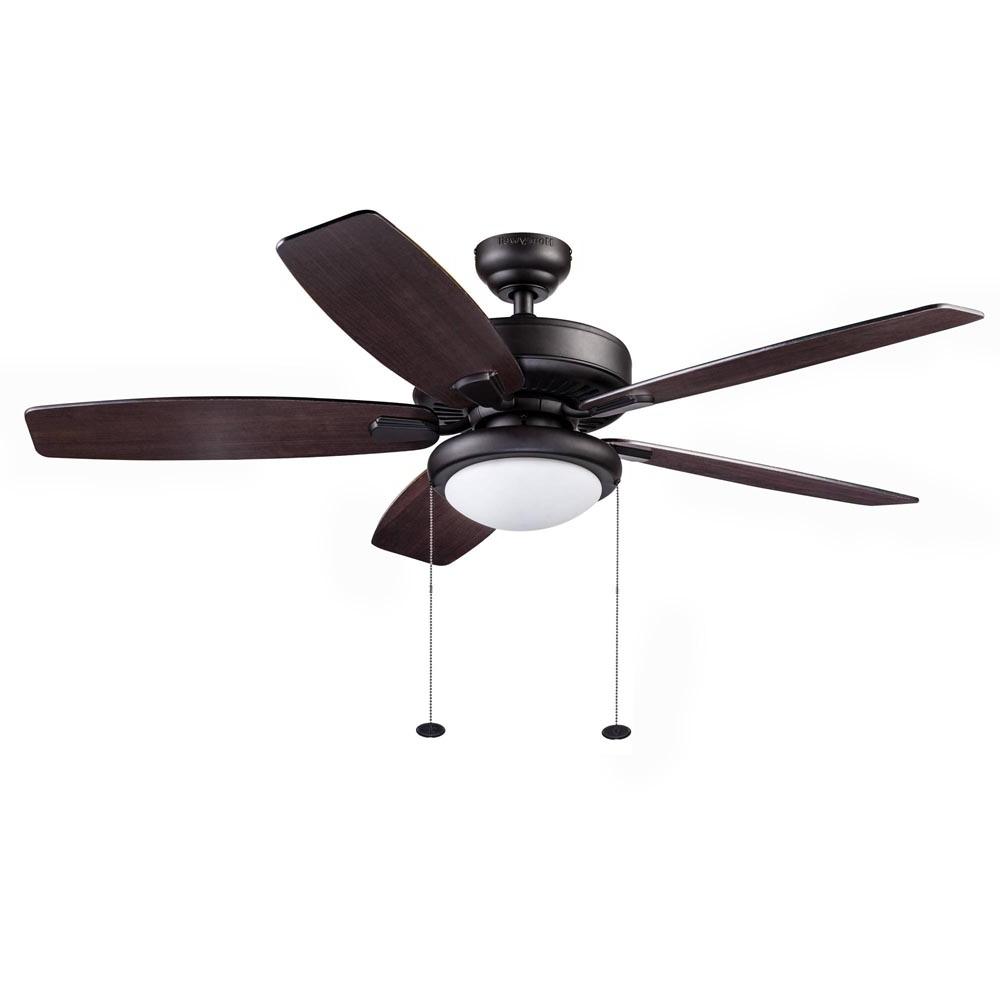 Outdoor Ceiling Fans At Walmart Within 2018 Honeywell Blufton Outdoor Ceiling Fan, Bronze, 52 Inch – 10283 (Gallery 2 of 20)