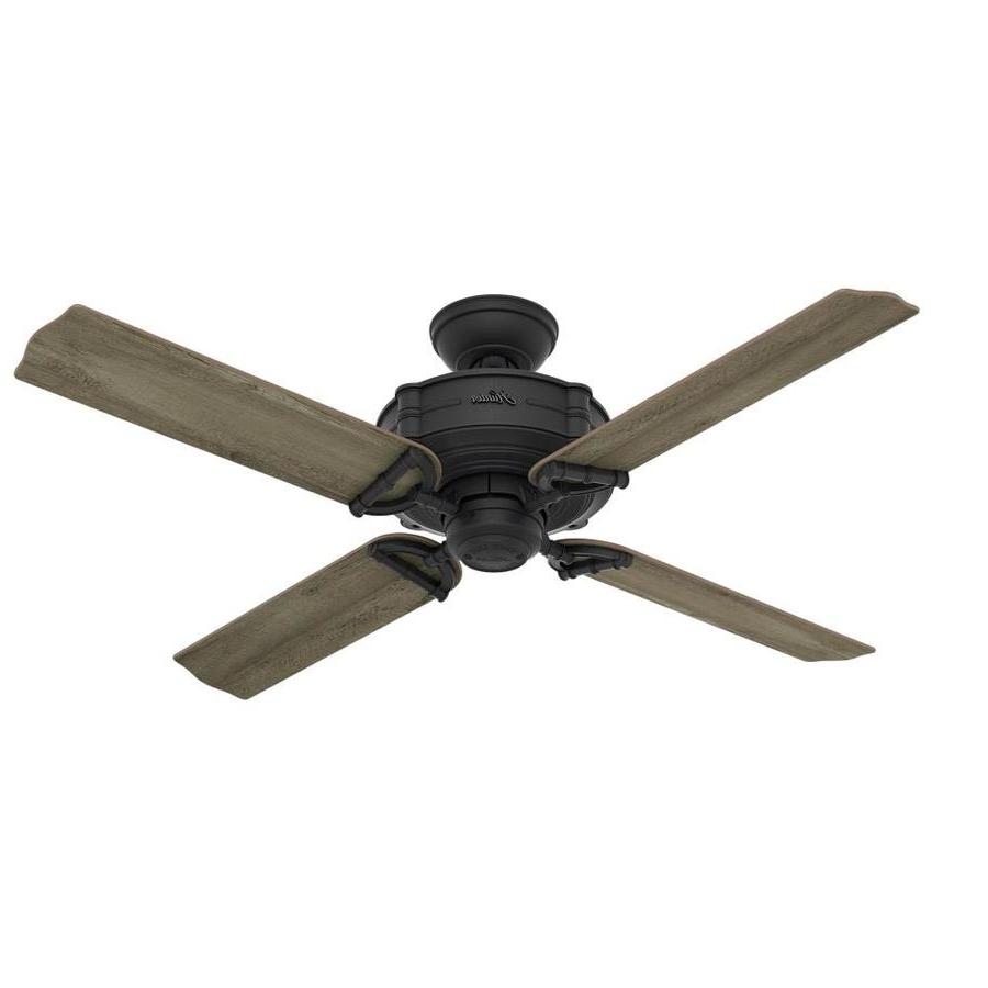 Outdoor Ceiling Fans By Hunter For 2019 Shop Hunter Brunswick 52 In Natural Iron Indoor/outdoor Ceiling Fan (View 11 of 20)