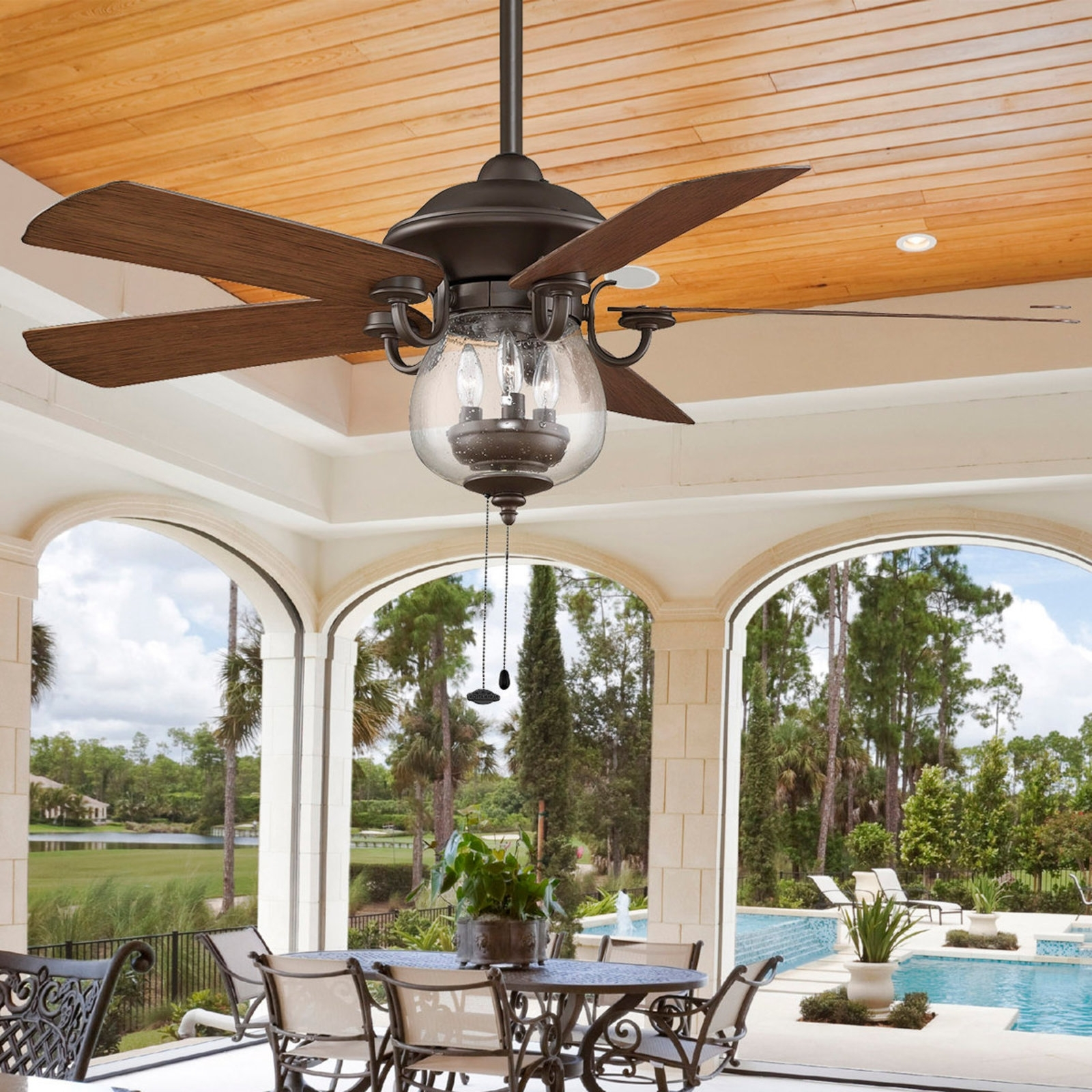 Outdoor Ceiling Fans – Design For Comfort Throughout Most Up To Date Outdoor Ceiling Fans With Motion Light (Gallery 6 of 20)