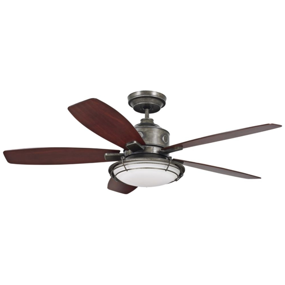 "Outdoor Ceiling Fans For Canopy In 2019 54"" Emerson Rockpointe Vintage Steel Ceiling Fan – Style # 23M41 (Gallery 10 of 20)"