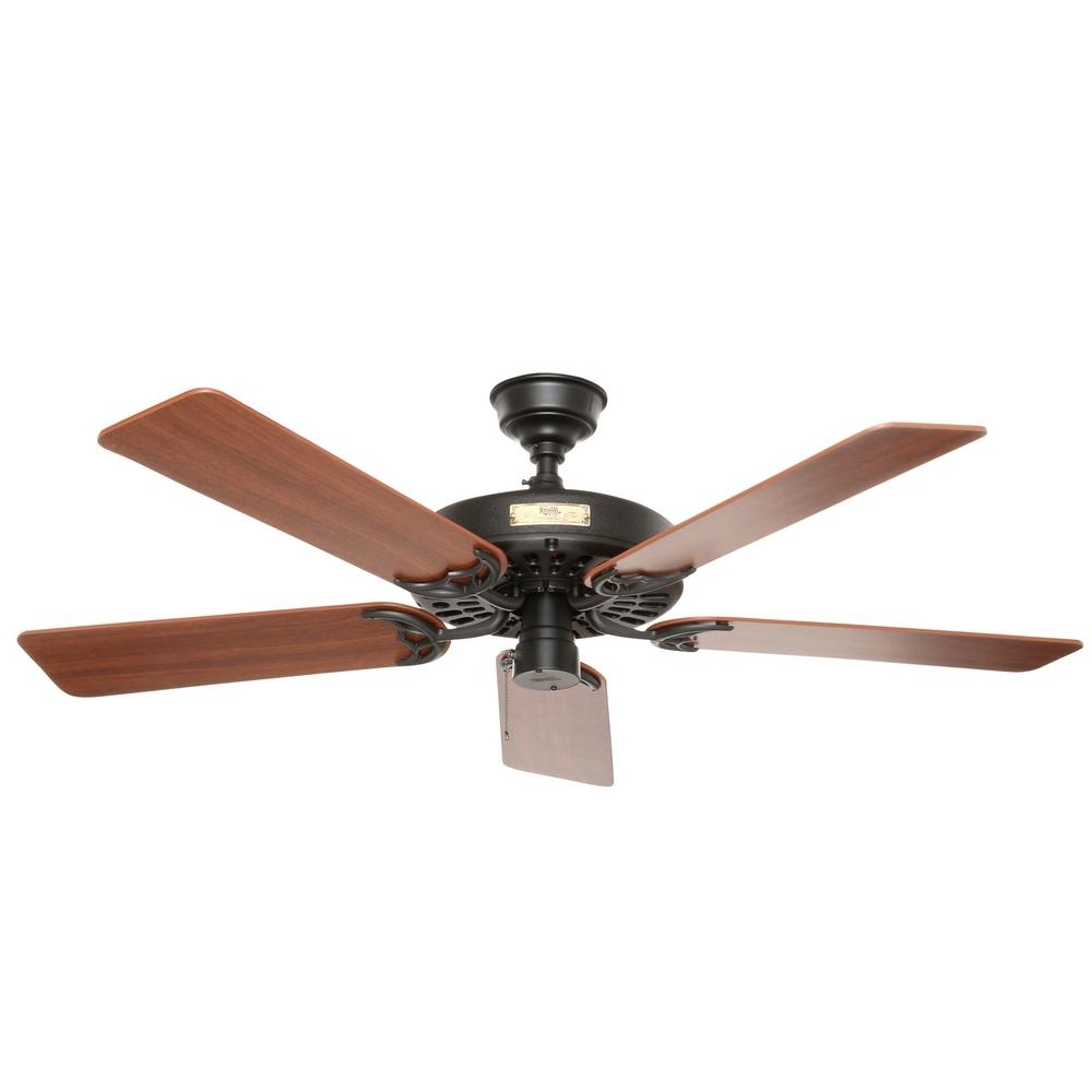 Outdoor Ceiling Fans For Canopy Throughout 2019 Hunter Original 52 In (View 11 of 20)